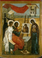 Evangelist Luke, painting the icon of the Mother of God