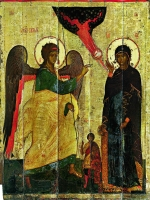 Annunciation with St. Theodore of Tyre