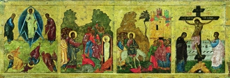 Transfiguration of Our Lord. Raising of Lazarus. Entrance of Our Lord into Jerusalem. Crucifixion.